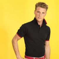 Men's classic fit tipped polo Thumbnail