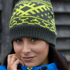 Result Winter Nordic Knitted Hat Thumbnail